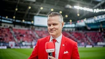 Leipzigs Stadionsprecher Tim Thoelke.