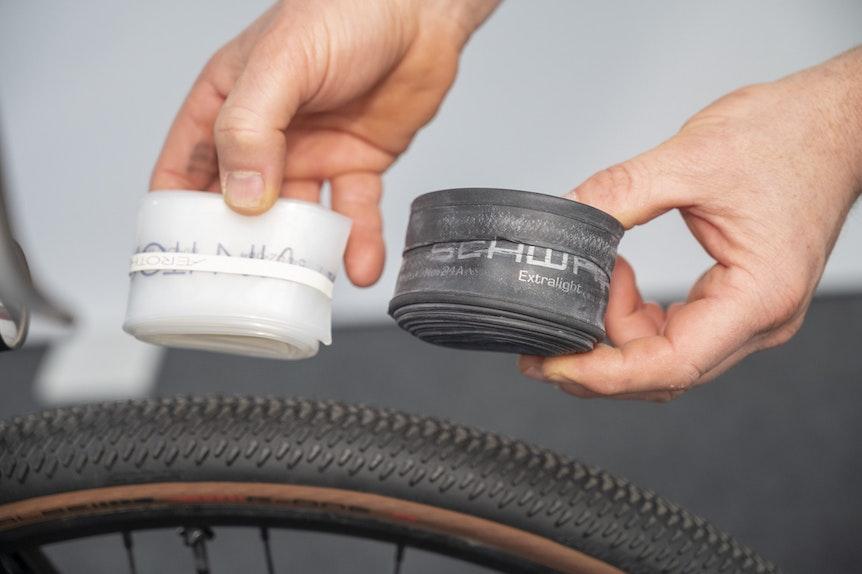 Robuster Gefährte: Moderne Reifen wie der G-One R für Gravelbikes sollen hohe Pannensicherheit bieten und sind auch für den schlauchlosen Einsatz vorbereitet.