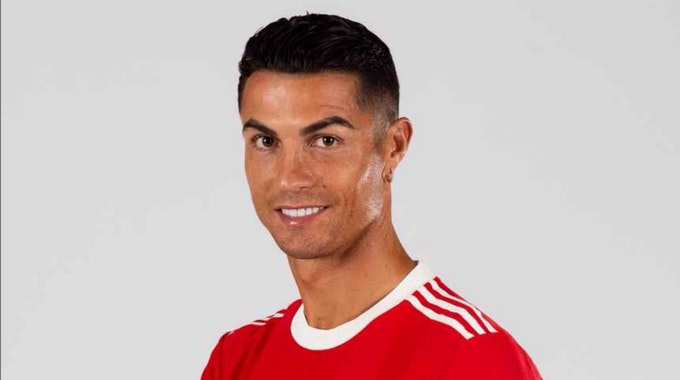 31. August 2021: Manchester United präsentiert die ersten Bilder von Cristiano Ronaldo in seinem neuen Trikot. Bilder zur Verwendung frei.