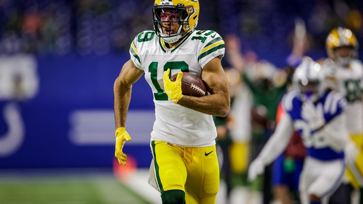 Dieses von den Green Bay Packers zur Verfügung gestellte Foto zeigt den deutsch-amerikanischen NFL-Spieler Equanimeous St. Brown von den Green Bay Packers.