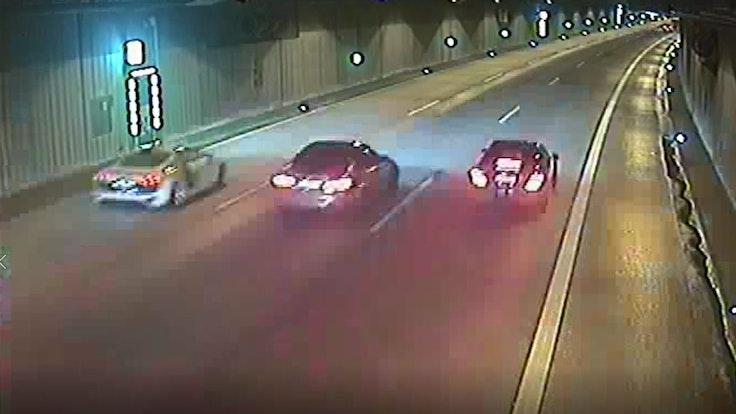 Mitte März lieferten sich die drei Tatverdächtigen ein Rennen über die A46 und durch den Düsseldorfer Uni-Tunnel.