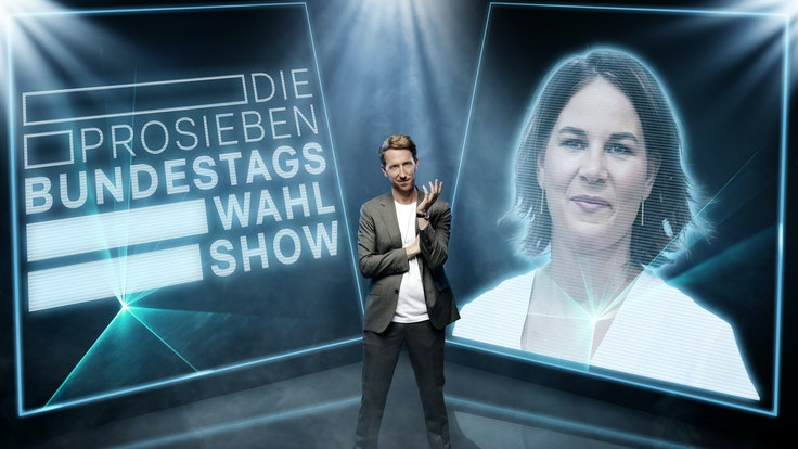 Moderator Louis Klamroth moderierte die ProSieben-Wahlshow. Gast am Mittwoch (1. September 2020) Grünen-Kanzlerkandidatin Annalena Baerbock.