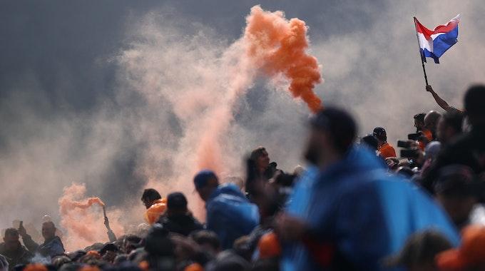 Niederländische Fans in Spa.