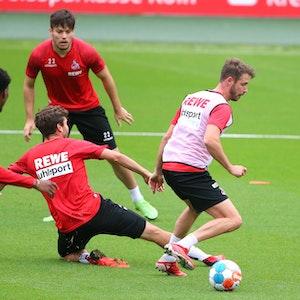 Mark Uth trainierte wieder mit der Mannschaft des 1. FC Köln.