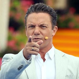 Moderator Stefan Mross während der ARD - Unterhaltungsshow Immer wieder Sonntags am 22. August 2021 im Europapark Rust.