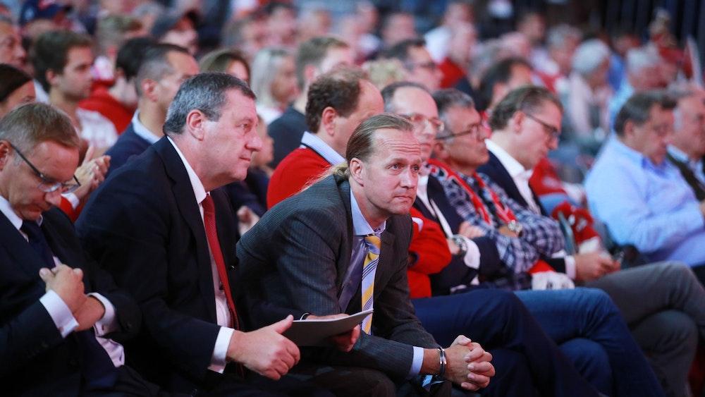 1.FC Köln Mitgliederversammlung in der LanxessArena von links: Eckhard Sauren, Werner Wolf, Stefan Müller-Römer (1.FC Köln) 08.09.2019 Herbert Bucco