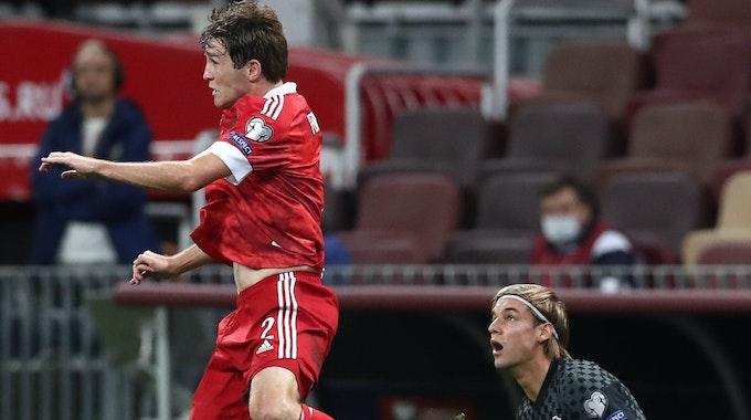 Borna Sosa beim Spiel Russland gegen Kroatien.