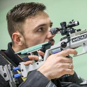 Tim Focken beim Schieß-Training