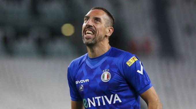 Franck Ribery ärgert sich während eines Spiels des AC Florenz.