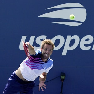 Peter Gojowczyk in Aktion bei US Open.