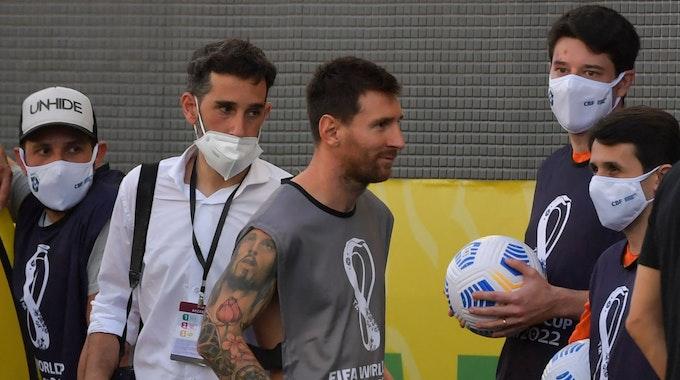 Lionel Messi beim WM-Quali-Spiel in Brasilien