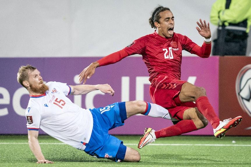 Schmerzhafte Rückkehr ins dänische Team für Yussuf Poulsen in der Partie gegen die Färöer-Inseln