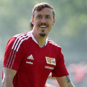 Max Kruse lachend beim Training von Union Berlin.