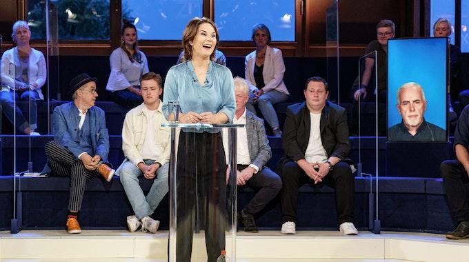 Annalena Baerbock am Montagabend (6. September) in der ARD-Wahlarena.