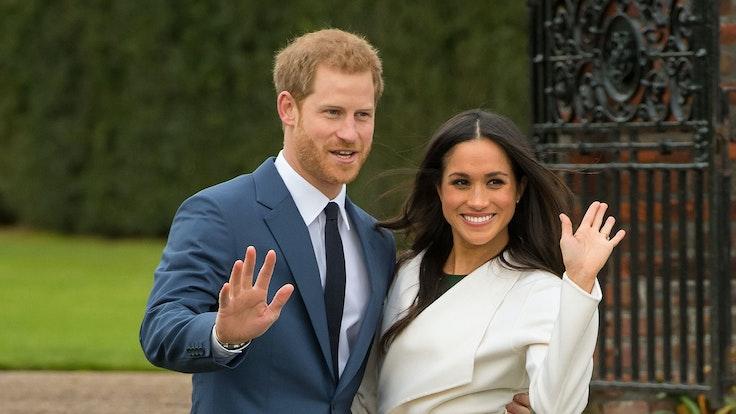 Der britische Prinz Harry und die US-amerikanische Schauspielerin Meghan Markle nach Bekanntgabe ihrer Verlobung.