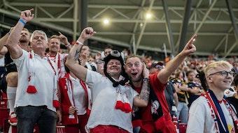 Fans von RB Leipzig beim Heimspiel gegen den VfB Stuttgart vor zwei Wochen.