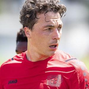 Julian Baumgartlinger beim Training von Bayer Leverkusen.