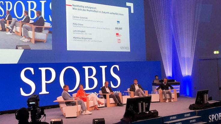 Diskussionsrunde auf der Sportmesse Spobis