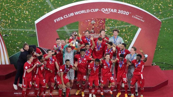 Siegerehrung der FIFA-Klub-WM nach dem Finale für den Sieger FC Bayern München