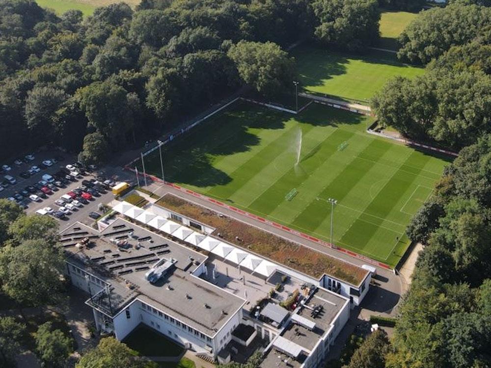 Ein Drohnenbild vom Geißbockheim am 8. September 2021. Foto von Eduard Bopp