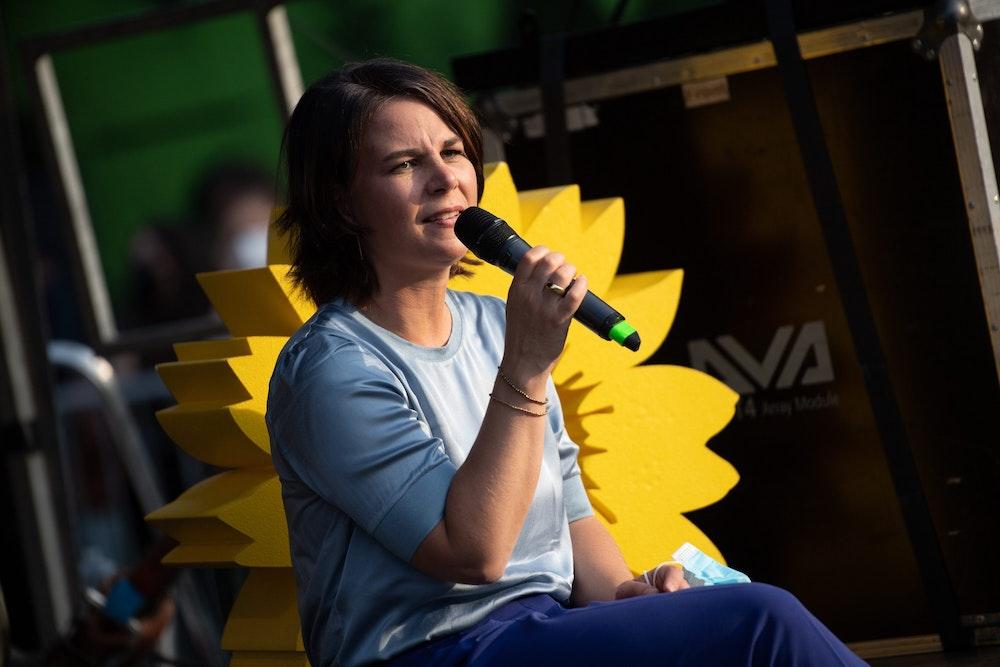 Annalena Baerbock bei einem Wahlkampf-Auftritt in Berlin 2021.