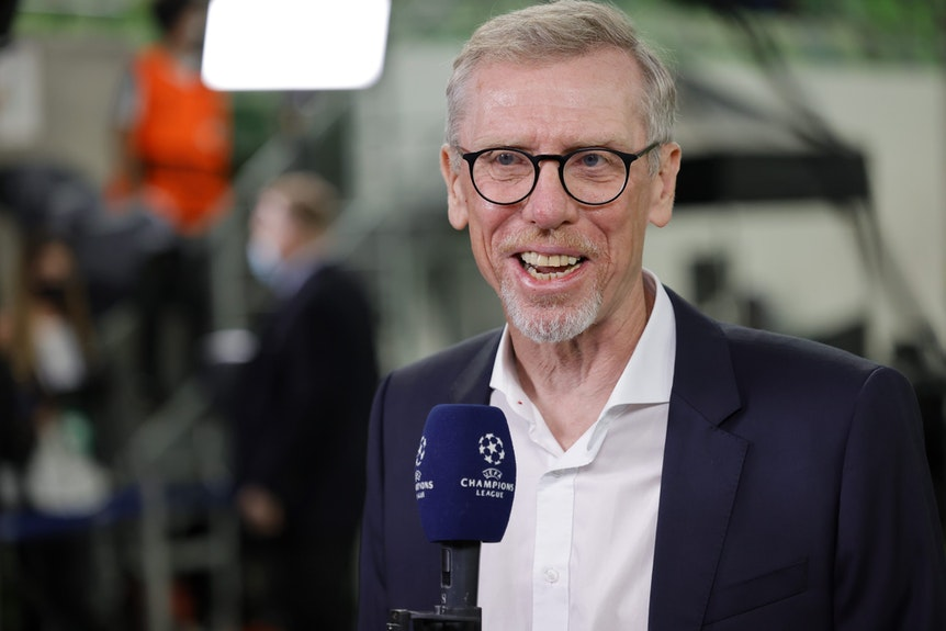 Peter Stöger beim Interview