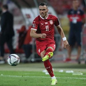 Filip Kostic im Spiel Serbien gegen Luxemburg