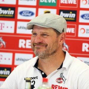 1. FC Köln 1. FC Köln, Pressekonferenz zum Auswärtspiel in Freiburg mit Steffen Baumgart