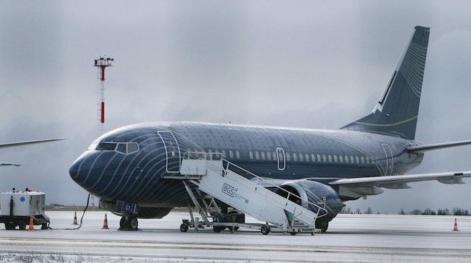 Eine Boeing der Firma KlasJet, mit der auch die Nationalmannschaft geflogen war.