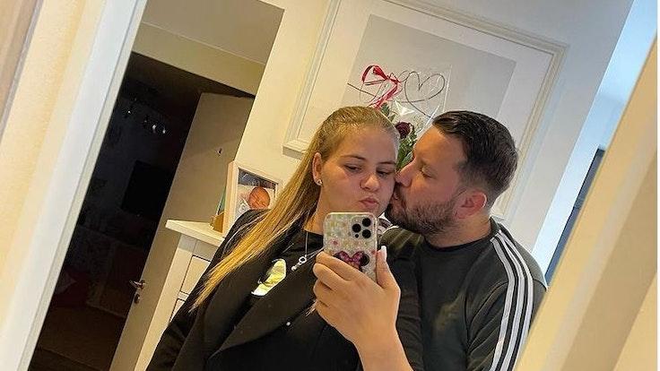 Sylvana Wollny und Ehemann Florian Köster auf einem Instagram-Selfie vom 25. August 2021 +++ Screenshot zur Berichterstattung erstellt.