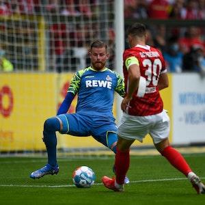 Timo Horn will gegen Christian Günther parieren