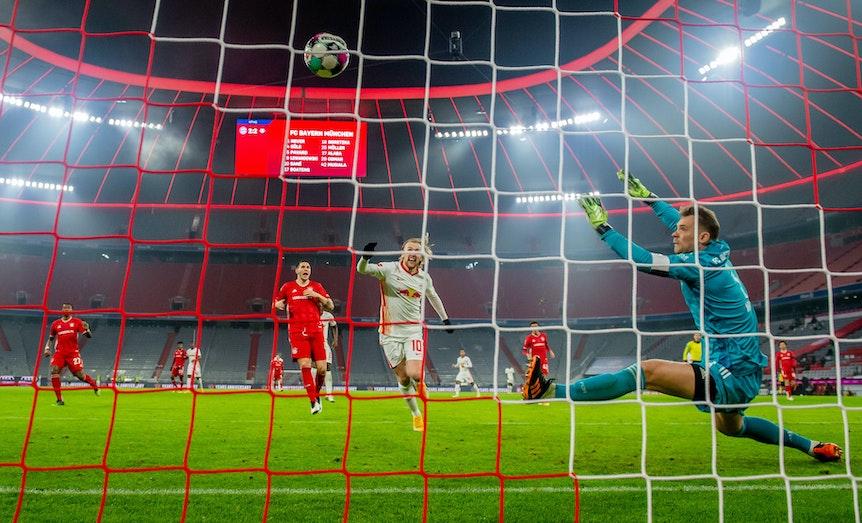 Emil Forsberg traf beim 3:3 gegen die Bayern im letzten Jahr.