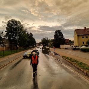 Die Stockumer Straße in Werne stand am 10. September 2021 unter Wasser.