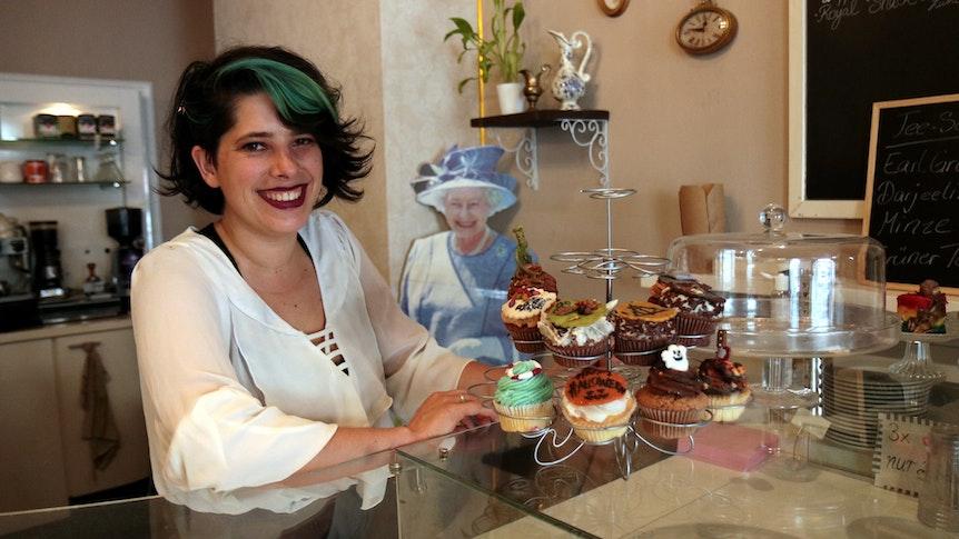Köln: Royal Cupcake Inhaberin Leonie Schlüter.