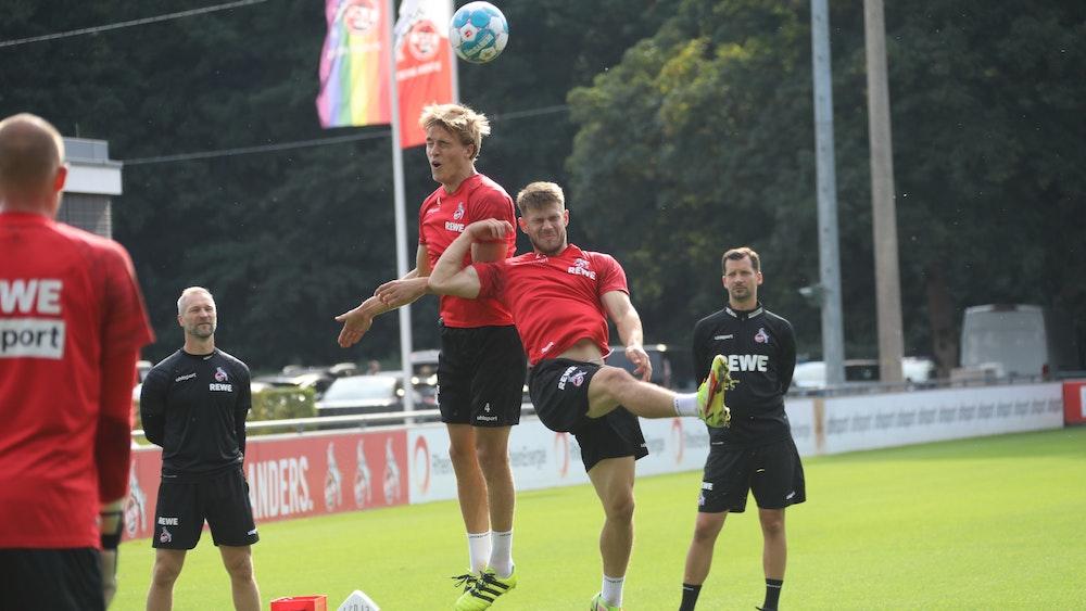 Jan Thielmann und Timo Hübers trainieren beim 1. FC Köln.