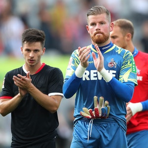 Timo Horn beim Auswärtsspiel des 1. FC Köln beim SC Freiburg