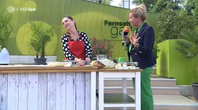 ZDF Fernsehgarten am 12.09. mit Moderatorin Andrea Kiewel und Jeanette Marquis +++ Screenshot zur Berichterstattung erstellt