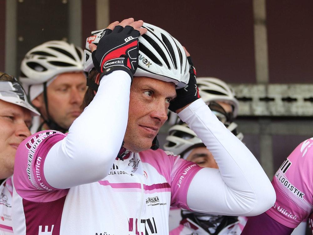 Der deutsche Rad-Star Jan Ullrich 2013 in Ditzungen.
