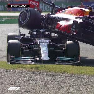 Lewis Hamilton bockt Max Verstappen beim Großen Preis von Italien auf