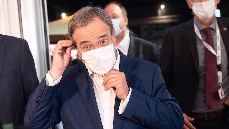 Armin Laschet nach dem zweiten TV-Triell am 12. September.