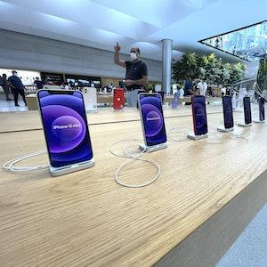 Am Dienstag (14. September 2021) stellt Apple neue Geräte vor. Unser Foto zeigt eine Apple-Filiale in New York.