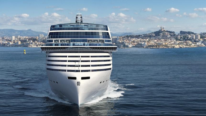 """Die """"MSC World Europa"""" soll 2022 fertig werden. Das Schiff wird 333 Meter lang sein und mit LNG angetrieben."""