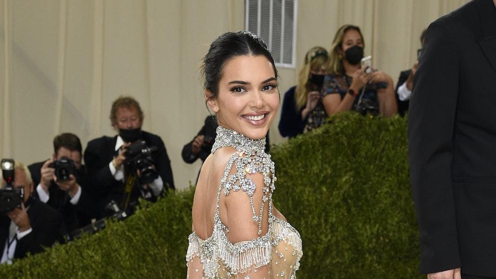 """Model Kendall Jenner bei der diesjährigen """"Met""""-Gala. Kendall überraschte mit einem durchsichtigen Kleid."""