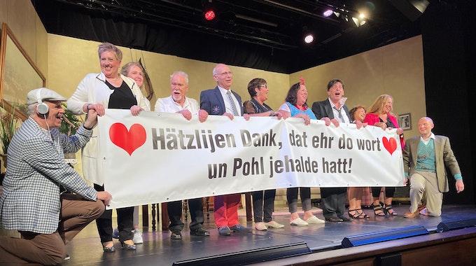 Das Kumde-Ensemble bei der Premiere im Juni in der Volksbühne am Rudolfplatz.