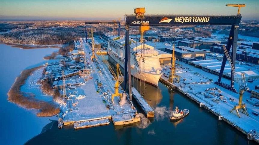 """Die """"Costa Toscana"""" wird derzeit in der Meyer Werft im finnischen Turku gebaut."""