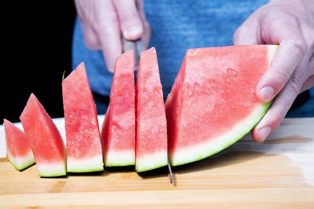 Unser Symbolfoto von Mai 2007 zeigt eine aufgeschnittene Wassermelone.