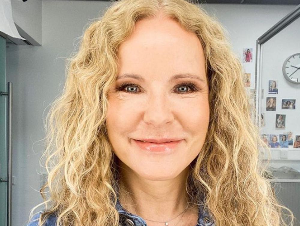 In ihrer Instagram-Story teilte Katja Burkard, hier auf einem Instagram Selfie vom 24. August, mit ihren Followern, dass sie Erntekrätze hat.
