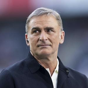 Stefan Kuntz als Experte beim Bundesligaauftaktspiel zwischen Borussia Mönchengladbach und dem FC Bayern München.