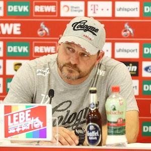 1. FC Köln, Pressekonferenz, Steffen Baumgart (1. FC Köln), 16.09.2021, Bild: Herbert Bucco