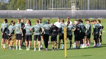 Die Mannschaft von Borussia Mönchengladbach beim Training am 16. September 2021 auf dem Trainingsplatz im Borussia-Park.